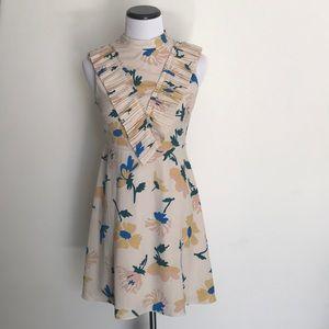 ASOS PETITE A line dress Pleated Yoke Front NWOT